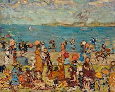 Beach Scene by Maurice Brazil Prendergast 60cm x 48cm Art Paper Print