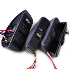 Universal Gray Power Window Lock Kit 4 Rocker Switch 12v Fit For Car 4 Doors Yd