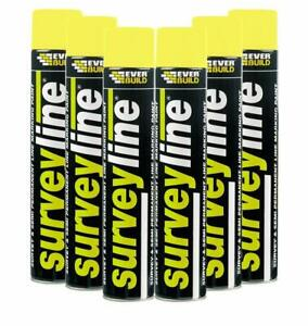EVERBUILD SURVEYLINE MARKER LINE-IT MARKING PAINT 700ML 6 in BOX RED YELLOW
