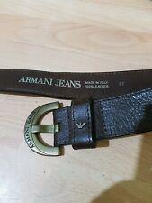 Armani Jeans Men's Brown Belt Genuine Leather Size 97