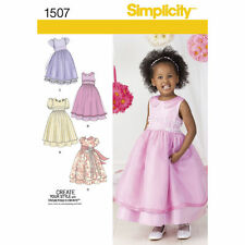 Simplicity SEWING PATTERN 1507 Toddlers/Childs Special Occasion Dress