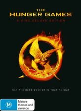 THE HUNGER GAMES (3 DISC DELUXE EDITION) New Movie DVD R4 = Jennifer Lawrence