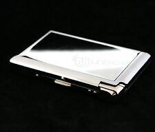 80mm Stainless Steel Cigarette Case Holder Box w/ Butane Refillable Lighter