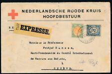 ROODE KRUIS ENV.'S GRAVENHAGE Z.O.B.SINGEL 22.9.21 - GENEVE, PER EXPRESSE Zk465