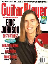 Guitar Player Magazine January 1993 Eric Johnson, Carlos Santana, Television