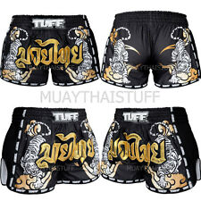 Tuff Boxing Muay Thai Shorts Retro Style Micro Fabric Black XL