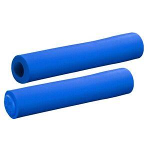 SupaCaz Siliconez XL Foam Handlebar Grips & Plugs - Lightweight XC - Neon Blue