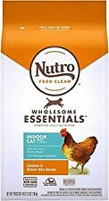 Nutro WHOLESOME ESSENTIALS, Dry Cat Food Chicken & Brown Rice 3 lb.EXP 7/20.