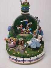 Disney 4 Parks All Star Snow Globe Four Monorail Music Box Figure See Descrip