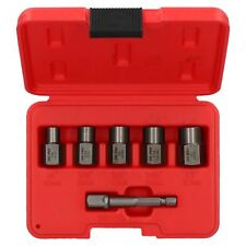 "6pc 3/8"" Drive Or Drill Bolt Extractor Wheel Lock Nut Remover Set 6mm – 12.7mm"