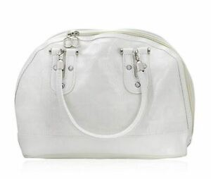 OES White on White Faux Leather Chapter Bag Purse - Eastern Star