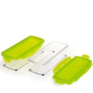 Genius Behälter-Set 8-teilig für Mini Nicer Dicer Auffangbehälter Aufbewahrung