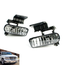 For 99-02 Chevy Silverado 00-06 Suburban Tahoe Clear Lens Fog Light Lamps Pair