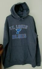 ST. LOUIS BLUES HOODIE PULLOVER MENS XLT GRAY FANATICS EXTRA LARGE TALL