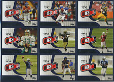 2006 TOPPS FOOTBALL 8306 INSERT CARD SET (ALL 10 CARDS COMPLETE)