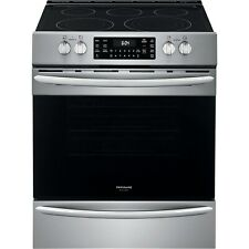 """Frigidaire Stainless 30"""" Electric Front Control Freestanding Range Fgeh3047Vf"""