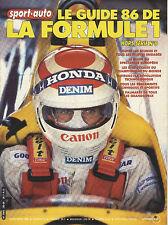 SPORT AUTO Hors Série  F1 1986