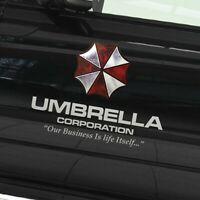 2x reflektierend sticker Aufkleber UMBRELLA CORPORATION logo resident evil 21cm