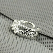 Wholesale 925 Sterling Silver Plated Women Fashion jewelry Rings SIZE OPEN #19