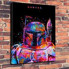 """Star Wars El Cazador De Lona Impresa Foto A1.30""""x20"""" 30 mm profunda Boba Fett"""