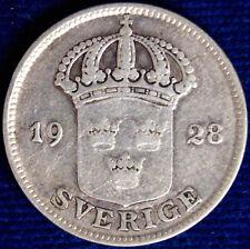 50 ORE 1928 G SVEZIA SWEDEN ARGENTO SILVER #7313