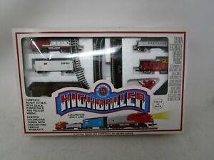 Vintage Bachmann HIGHBALLER *N-SCALE TRAIN SET W/LOCOMOTIVE & 3 CARS*
