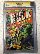 THE INCREDIBLE HULK 181 CGC SIGNED BY STAN LEE 1ST APPEARANCE WOLVERINE MARVEL