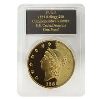 1855 2.42 oz S.S. Central America $50 Commemorative Gold Coin PCGS Gem Proof