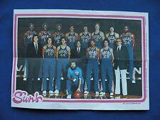 1980-81 Topps Team Pin-Ups Phoenix Suns #13 team photo basketball NBA