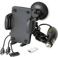 Aktive Handy Smartphone Auto Halterung RICHTER Halter Ladefunktion Ladekabel