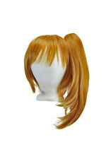 16'' Straight Pony Tail + 12'' Bob Cut Base Wig Set Pumpkin Orange NEW
