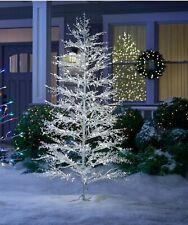Christmas 7' PreLit White Berries Twig Tree LED Lights - winterberry warm white