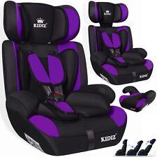 Kidiz® Autokindersitz Autositz Kinderautositz 9-36 kg Gruppe 1+2+3 Sitz Lila