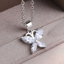 925 Sterling Silver Crystal Butterfly Shape Pendent Jewelry Wholesale #14