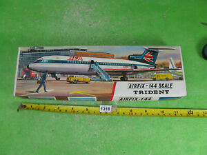 vintage airfix model kit 1/144 trident airliner aircraft collectable toy 1318