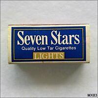 Seven Stars Quality Low Tar Cigarettes Lights Matchbox (MX83)