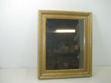 Vintage Large Gold Detailed Picture Frame With Mirror Wall Mount