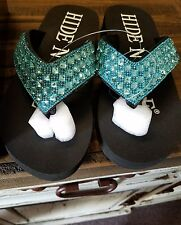 Hide N Sole Blue Sandals size small  (5-6)