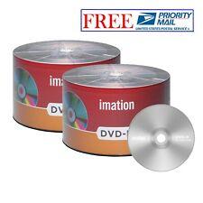 100 Pcs Imation DVD-R 16X 4.7GB Branded Silver Logo Blank Media Recordable Disc