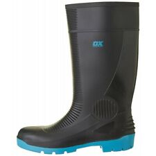 OX Safety Wellington Boots Black (Sizes 5-13) Men's Steel Toe Cap Work Wellies