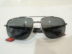 Prada PS51M 58-15 Black 5AV-3M1 140 2N Square Sunglasses - Good Condition