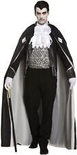 Gothic Dracula Vampire Lord Horror Fancy Dress Halloween Costume Outfit  P8747