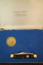 RARE SCHRADE USA 1950-1973 SW CUT SAWCUT DELRIN BUFFALO BILL STOCKMAN KNIFE NICE