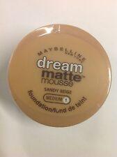 Maybelline Dream Matte Mousse Foundation SANDY BEIGE (MEDIUM-1) NEW.