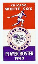 1943 Chicago White Sox Spring Media Guide - Rare Original