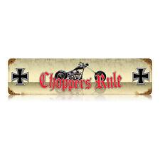 CHOPPERS RULE Blech Schild sign Biker V2 Harley West Coast 1% IRON CROSS CLUB