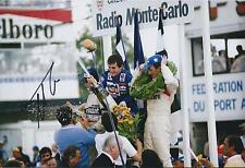 Nelson PIQUET SIGNED Monte Carlo PODIUM 12x8 Photo AFTAL Autograph COA F1