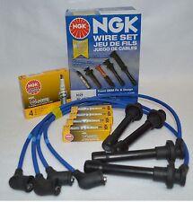 Honda Civic NGK Blue Spark Plug Wire Set HE 76 + NGK Platinum Colder Spark Plugs