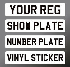 SELF ADHESIVE 520 x 111mm Front Stick on Number Plate Reg Sticker Show Car 4x4