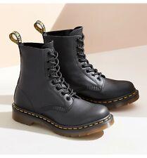 Nuevo Dr. Martens para hombre 1460 Nappa Pascal 8-Eye Negro Cuero Zapatos Bota 11822002